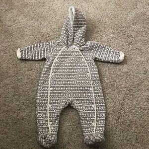 Nordstrom Baby- Hooded Bunting. Snow onsie